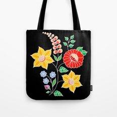 Hungarian placement print - black Tote Bag