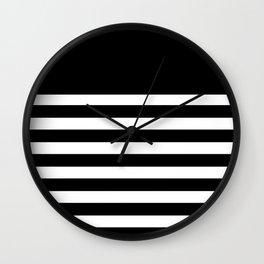 Black Bretton Stripe Art Wall Clock
