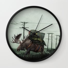 Strategic Nuclear Moose - Fallout - And God Said Let Them Have Beer Wall Clock