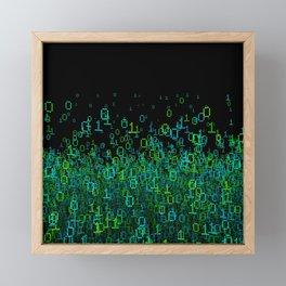 Binary Cloud Framed Mini Art Print