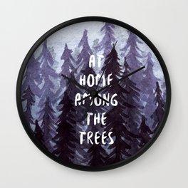 At Home Among the Trees Wall Clock