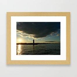 Lake Michigan in Wisconsin Framed Art Print