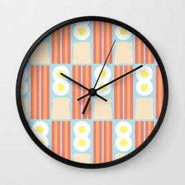 Breakfast Shapes Wall Clock