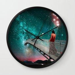 THE NIGHT WHEN I FOLLOWED THE STARS Wall Clock