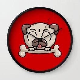 Kawaii Cute Pug Dog Wall Clock