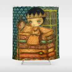 Sleepless Nights With The Princess And The Pea Shower Curtain