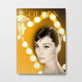 Golden Audrey Metal Print