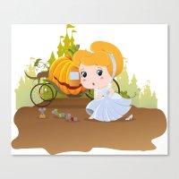 cinderella Canvas Prints featuring Cinderella by 7pk2 online