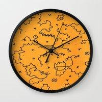 brooklyn Wall Clocks featuring Brooklyn by Amanda Trader