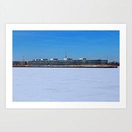 Owens Corning in Winter Art Print