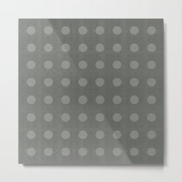 """Dots Elephant Grey"" Metal Print"