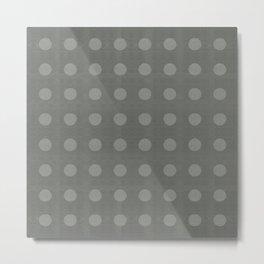"""Dots Elephant Grey"" Metal Print"