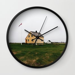 Typical house in Lofoten Islands Wall Clock