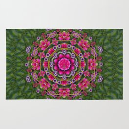 fantasy floral wreath in the green summer  leaves Rug