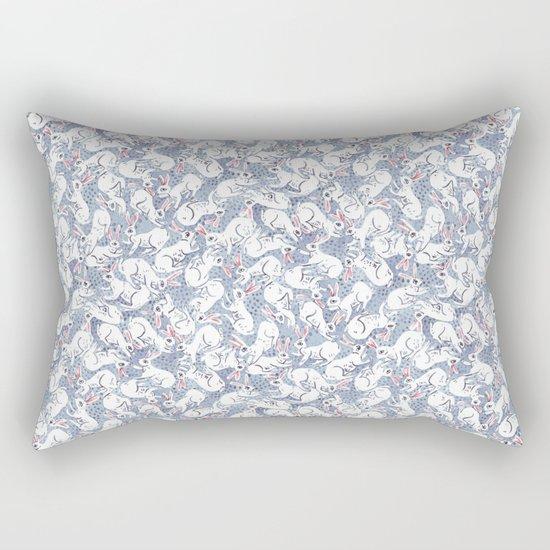 Bunny Pile Pattern Rectangular Pillow