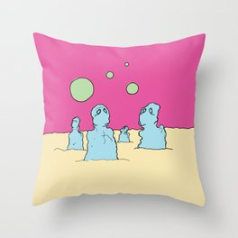 Where Are We Now? Throw Pillow