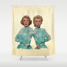 Two Different Faces... (Sisters) Shower Curtain