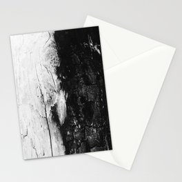 Monochromatic Black and White Wood Bark  - Stationery Cards