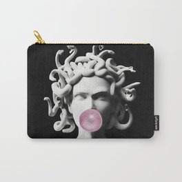 Medusa blowing pink bubblegum bubble Carry-All Pouch
