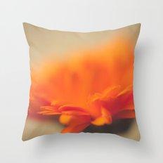 Orange Sun Throw Pillow