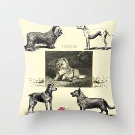TERRIER DOG Illustration Throw Pillow