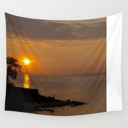 Night falls over Lake Constance Wall Tapestry