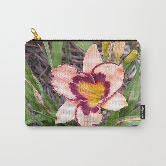 Pink daylily growing in Queensland Carry-All Pouch