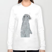 otter Long Sleeve T-shirts featuring Otter by caseysplace