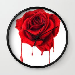 Painting the Roses Red Wall Clock