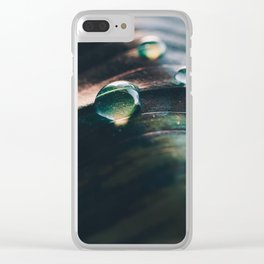 Droplet in the Sea. Clear iPhone Case