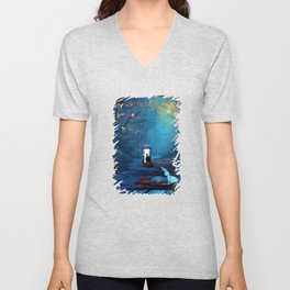 Tardis Lost In The Forest Unisex V-Neck