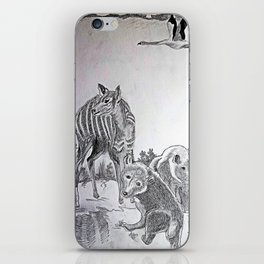 Deer Mom and the Bear cubs iPhone Skin