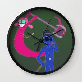 Guardian Ghost- Clarence and Clara Wall Clock