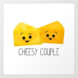 Cheesy Couple | Swiss & Cheddar Cheese Art Print