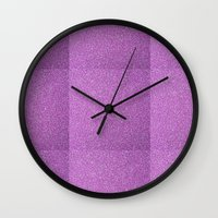 glitter Wall Clocks featuring Glitter by mailboxdisco