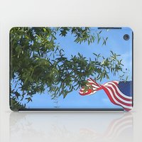 american flag iPad Cases featuring American Flag  by KCavender Designs