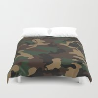 camo Duvet Covers featuring Camo by TheSmallCollective