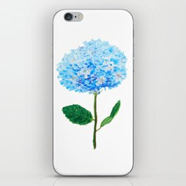abstract blue hydrangea watercolor iPhone Skin