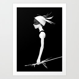 Cas Art Print
