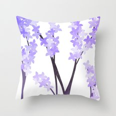 Gentle Lilacs Throw Pillow