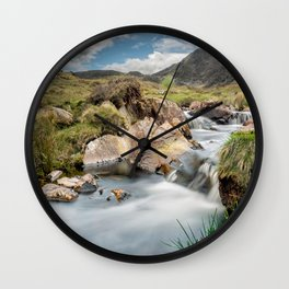 Rocky Waterfall Wall Clock
