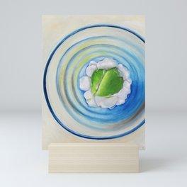 Limeade In A Blue Glass Mini Art Print