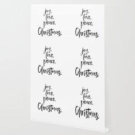 Joy.Love.Peace.Christmas. Typography Wallpaper