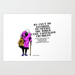 Shop On Art Print