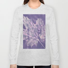 Eco botanical print in violet Long Sleeve T-shirt