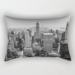 Black & White NYC Skyline Rectangular Pillow