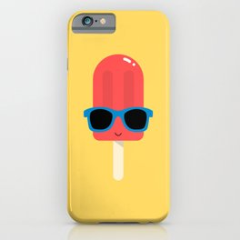 Red Ice Pop Wearing Blue Sunglasses iPhone Case