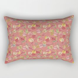 Ash Rose Falling Leaves in Winter Color Trends Rectangular Pillow