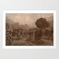 irish Art Prints featuring Irish Graveyard  by Tru Images Photo Art