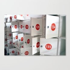 Lockers Canvas Print